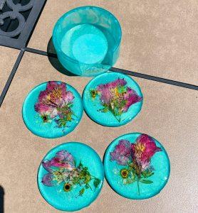 Dried Lilies Coaster Set